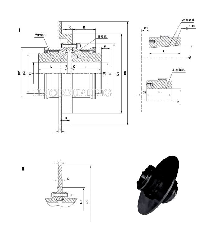 Gear Coupling With Brake Disc Size