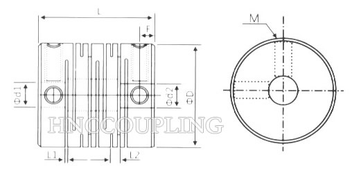 HB Beam Flexible Coupling Size