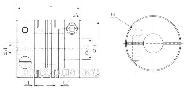 HBCS Beam Flexible Coupling Size