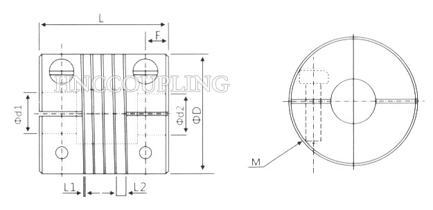 HBLC Series Beam Coupling Size