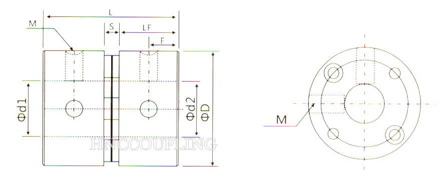HD1F Diaphragm Coupling Size