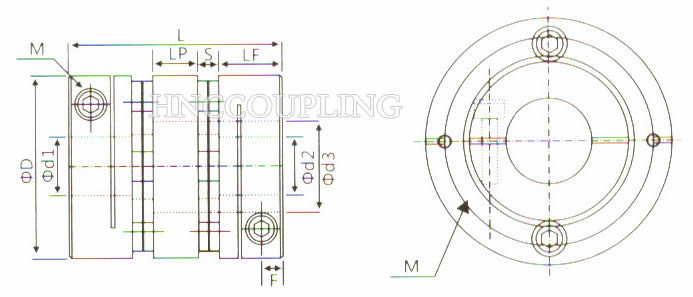 HD2C Diaphragm Coupling Size