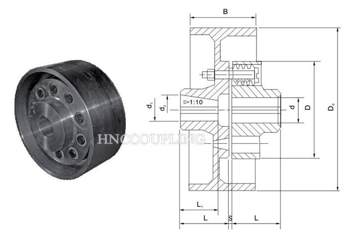 LTZ pin flexible shaft coupling With brake wheel size