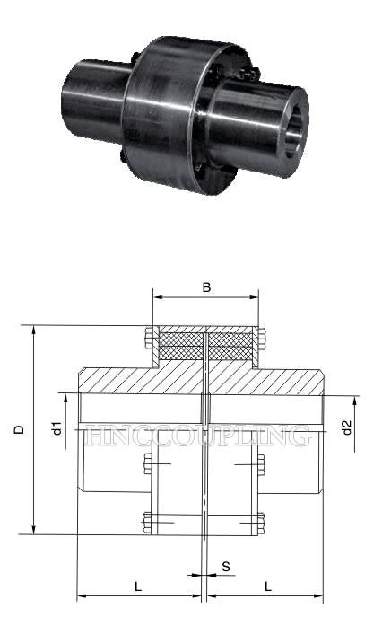 LZ Pin Flexible Coupling size