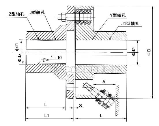 Pin Coupling (LT Type) Size