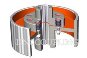 pin flexible shaft coupling With brake wheel