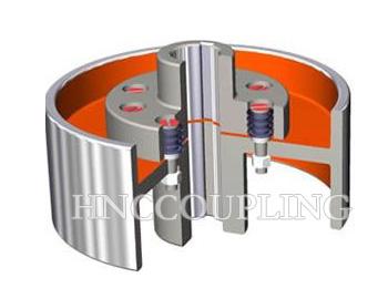 pin flexible shaft coupling With brake wheel